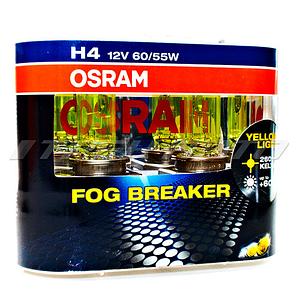 Лампы OSRAM H4 FOG BREAKER к-т 62193 FBR всепогодные