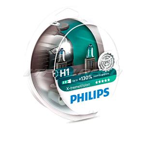 Лампы PHILIPS H1 X-tremeVision +130% к-т  37166628