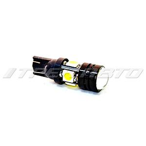 Лампа W5W SMD 4 диода+1hp-линза 5050