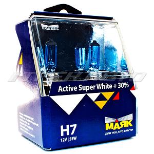 """Лампы """"Маяк"""" H7 60/55 super white к-т +30%"""