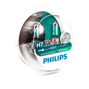 Лампы PHILIPS H7 X-treme Vision +130%