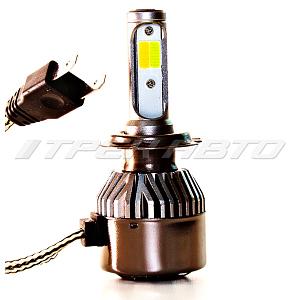 Лампы LED H7 3Режима всепогодные 3000К+6000К