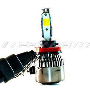 Лампы LED H11 3Режима всепогодные 3000К+6000К