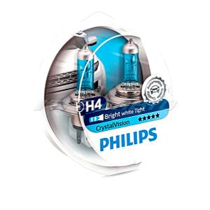 Лампы PHILIPS H4 Crystal Vision 4300K 12342CVSM