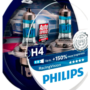 Лампы PHILIPS H4 Racing Vision +150% 12342RVS2