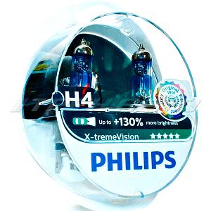 Лампы PHILIPS H4 X-treme Vision +130% 12342XV+S2
