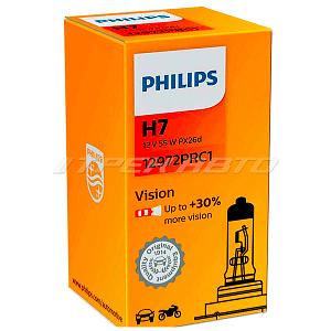 Лампа H7 PHILIPS 55W +30% 12972PRC1