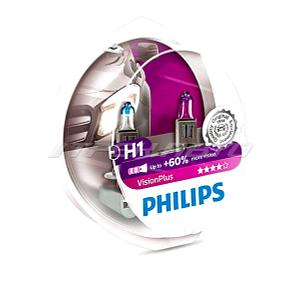 Лампы PHILIPS H1 VISION PLUS  +60 % 12258VPS2