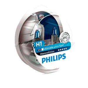 Лампы PHILIPS H1 Diamond Vision к-т 12258DVS2 5000К