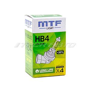 Лампа HB4 MTF 55W +30% LONG LIFE увеличенный ресурс