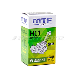 Лампа H11 MTF 55W +30% LONG LIFE увеличенный ресурс