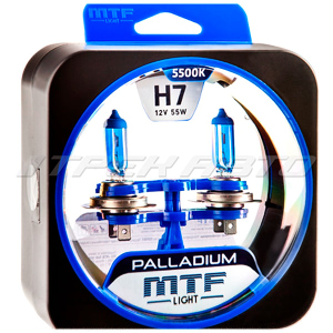 Лампы MTF H7 55 W PALLADIUM к-т