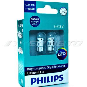 Лампы w5w PHILIPS диодные к-т