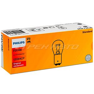 Лампа P21/4 W PHILIPS 12594 смещенный