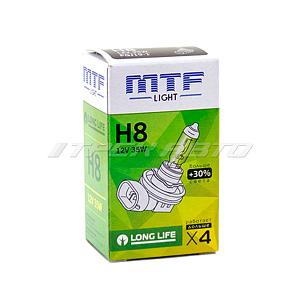 Лампа H8 MTF 35W+30%  LONG LIFE увеличенный ресурс