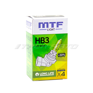 Лампа HB3 MTF 55W +30% LONG LIFE увеличенный ресурс