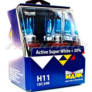 Лампы Маяк H11 Super White к-т +30%
