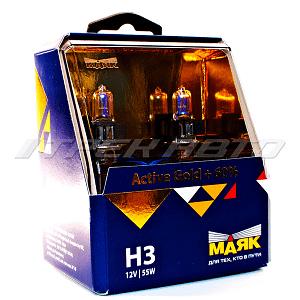 Лампы МАЯК H3 Active Gold +60% к-т
