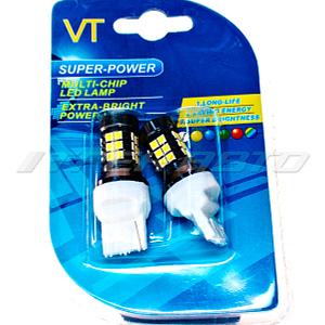 Лампа W21/5W SMD 27 диодов + линза к-т VT