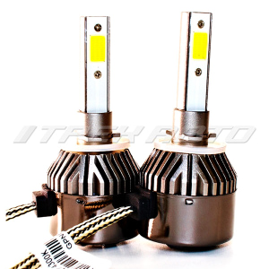 Лампы LED C9 H27 4300 K головной свет к-т