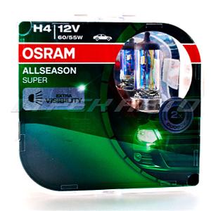 Лампы OSRAM H4 55/60W 12V 64193ALL ALLSEASON всепогодные к-т EVROBOX