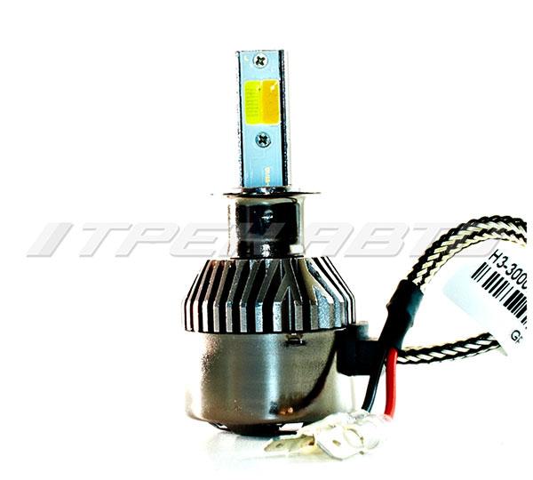 Лампы LED H3 3Режима всепогодные 3000К+6000К
