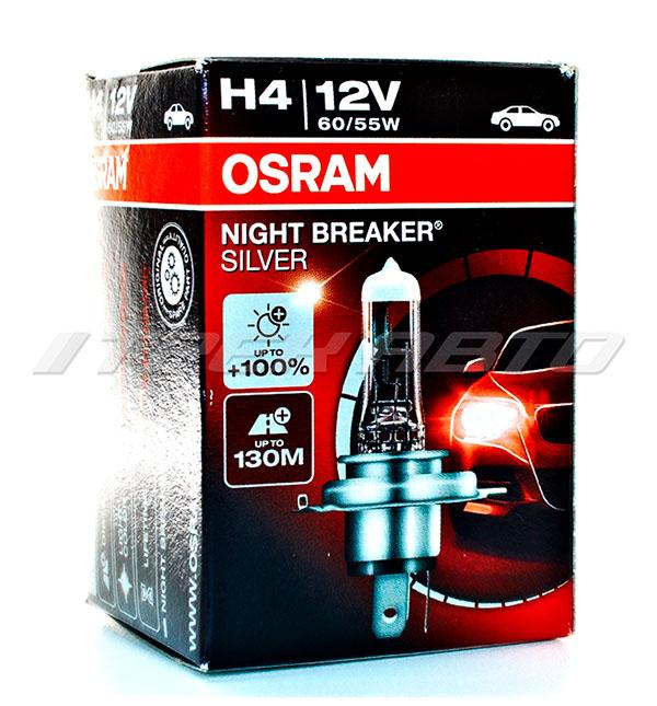 Лампа H4 OSRAM 60/55W +100 % SILVER 64193NBS