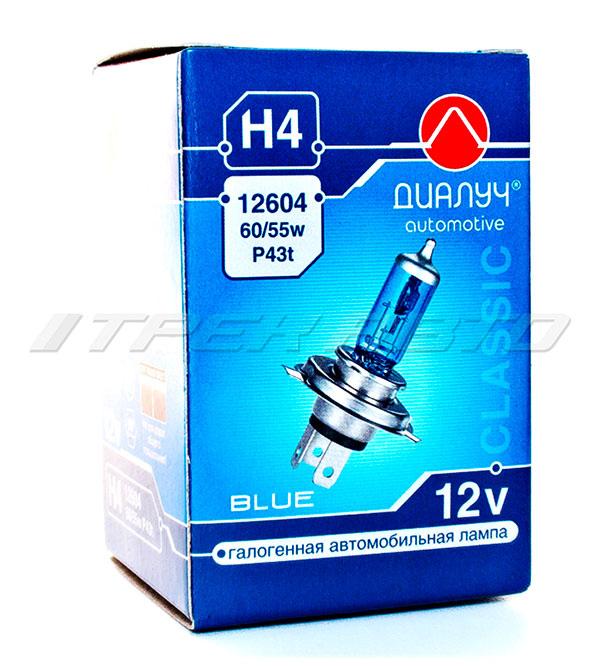 Лампа H4 ДиаЛуч/Луч  SuperWhite BLUE синяя 55W