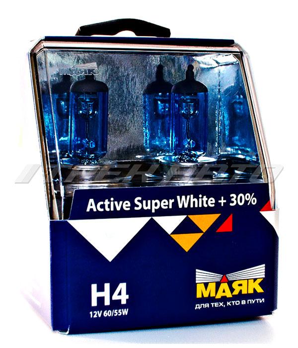 """Лампы """"Маяк"""" H4 60/55 super white к-т 30%"""