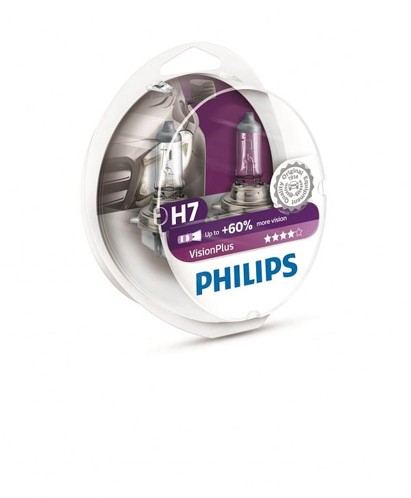Лампы PHILIPS H7 VisionPlus +60% к-т 12972VPS2